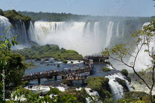 garganta del diablo at the iguazu falls