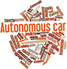 Word cloud for Autonomous car