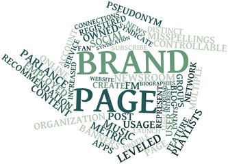 Word cloud for Brand page