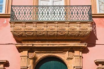 Venneri palace. Gallipoli. Puglia. Italy.