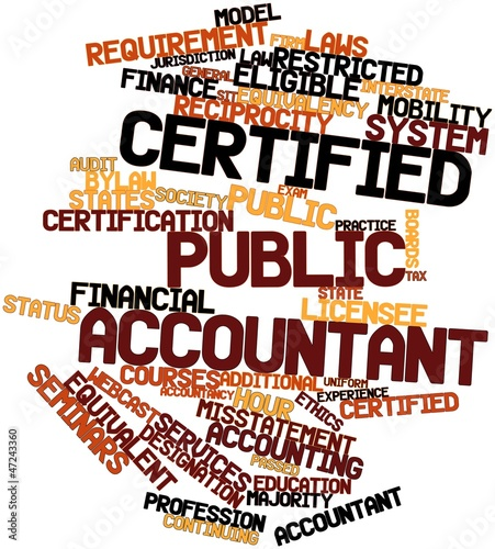 Word cloud for Certified Public Accountant