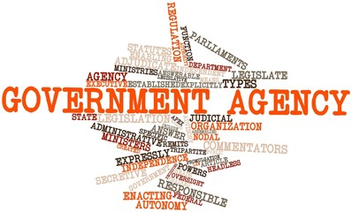 Word cloud for Government agency