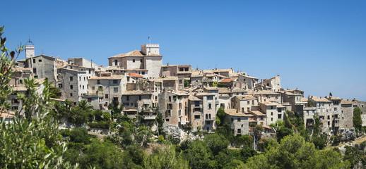 Mediterranean alps hill town france