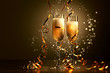 Glasses of champagne at new year party - 47243907