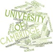 Word cloud for University of Cambridge