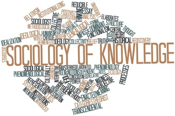 Word cloud for Sociology of knowledge