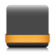 BLANK web button (square orange icon symbol template)