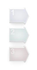 Three steps 3d blankc arrows