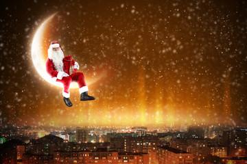 Santa on the moon