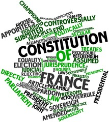Word cloud for Constitution of France