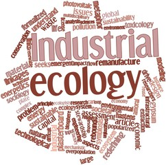 Word cloud for Industrial ecology