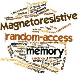 Word cloud for Magnetoresistive random-access memory