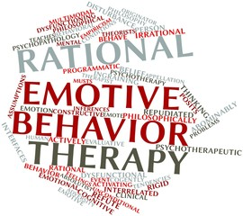 Word cloud for Rational emotive behavior therapy