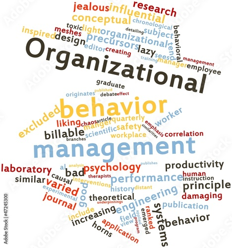 Word cloud for Organizational behavior management