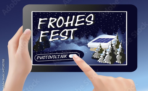 Frohes Fest mit Photovoltaik_Tablet-PC