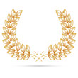 Gold wreath for the winner - vector file