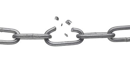 broken metal chain link