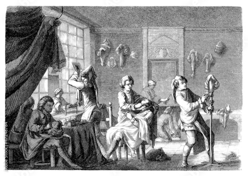 Hair-Dresser - Coiffeur-Perruquier - France 18th century