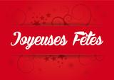 Fototapety Etiquette papier rouge Noël