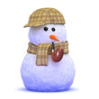 Sherlock snowman with pipe