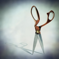 open scissor shadow