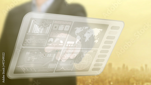 Touchscreen berühren - Daten - Informationen
