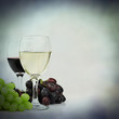 red white wine grapes backdrop