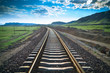railway in prairie