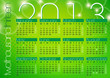 green abstract modern background calendar 2013