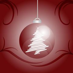 decorazione natalizia pallina rossa