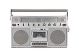 Old Portable Stereo Cassette Player with Clipping Path