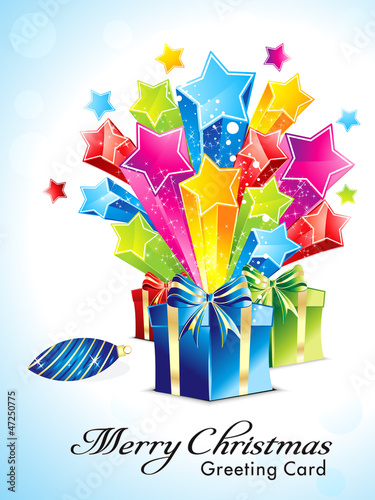 abstract explode background with gifts