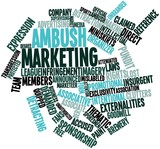 Word cloud for Ambush marketing poster