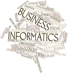 Word cloud for Business informatics