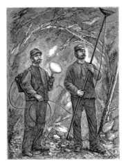 Miners - Mineurs - 19th century