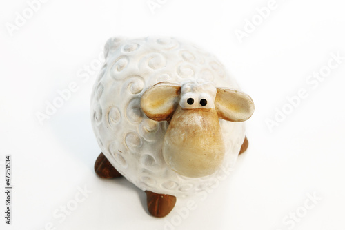 Toy lamb or sheep