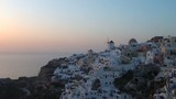 View on Oia in Santorini Greece