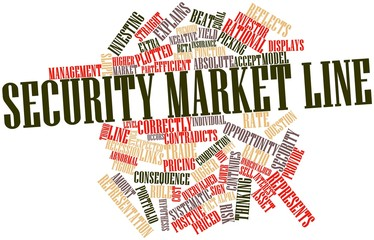 Word cloud for Security market line
