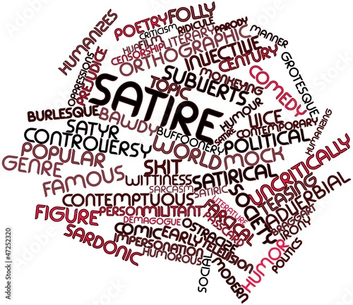 Word cloud for Satire