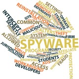 Word cloud for Spyware poster