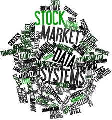 Word cloud for Stock market data systems