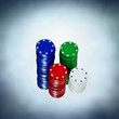 coloured poker chips