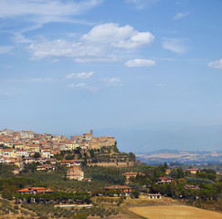 Tuscany countryside by chianciano terme