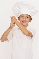 Kleiner Junge als Koch