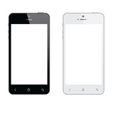 Realistic mobile phone isolated vector eps10