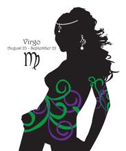 Stylizowane Panna znak zodiaku