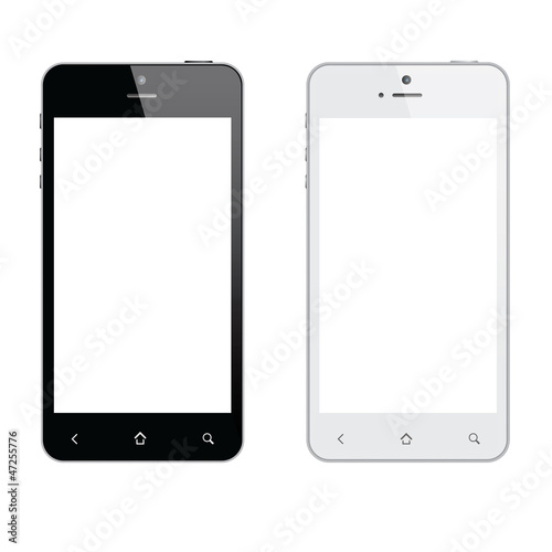 Realistic mobile phone isolated vector eps10 - 47255776