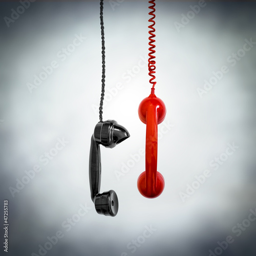 black and red phone