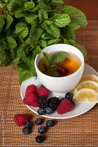 Mint herbal tea