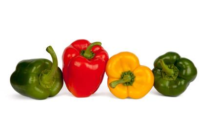 Roter, gelber und grüner Paprika IV